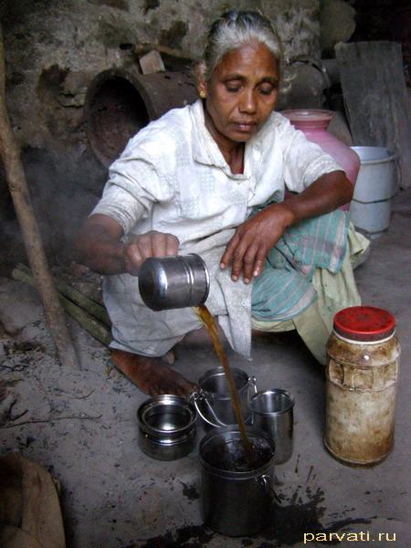 Приготовление чая на высокогорных чайных плантациях...